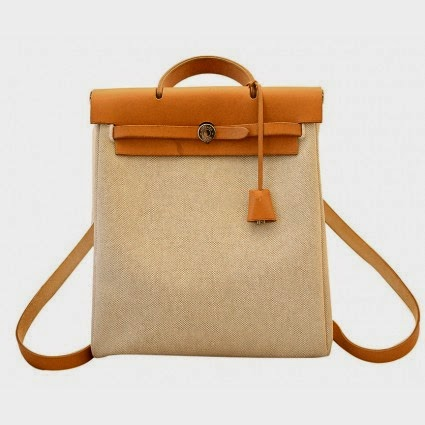 61c320afe548 This is an amazing HERMES Toile HERBAG PM 2 in 1 Bag. This is a fabulously  functional Hermes set with two stylishly classic bags in one.
